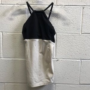 Lululemon black and cream tank, sz 4, 63458